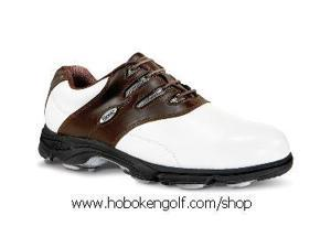 Etonic G>SOK Sof-Flex Golf Shoes White/Dk Brown  9M ***