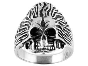 316L Stainless Steel Casting Skull Ring