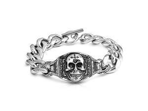 Stainless Steel Bracelet - ID w/ Skull