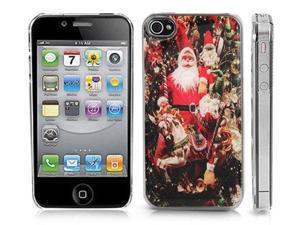 Clear Snap-On iPhone Cover Case for 4/4S iPhone. SANTA CLAUS Logo Design. Height:4.5 Inches X Width: 2.5 Inches X Thickness:0.5 ...