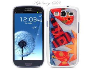 White Snap-on S3 Phone Cover Case for Samsung Galaxy SIII Phone - FLIP-FLOPS LOGO DESIGN. Height: 5.3 Inches X Width: 2.6 ...