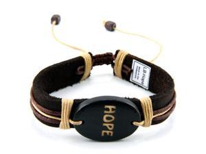 Adjustable Genuine Leather Bracelet-HOPE