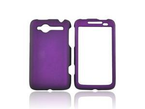 Purple For HTC Bee Wildfire Rubberized Hard Case Cover