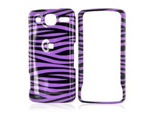 For LG Expo Hard Case Cover Purple Black Zebra
