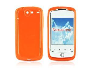 For Google Nexus One Crystal Silicone Case Solid Orange