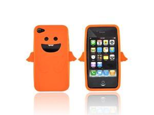 For Apple Iphone 4 Silicone Skin Case Orange Angel