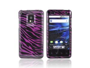 Black Zebra On Purple Hard Plastic Case Cover For T-mobile G2x