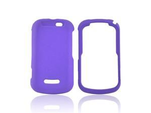 Purple Rubberized Hard Plastic Case Cover For Motorola Clutch+ i475