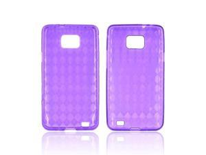 Purple Argyle Crystal Silicone Case Cover For Samsung Attain i9100