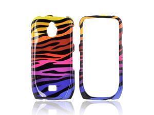 Rainbow Zebra Hard Plastic Case Cover For Samsung Exhibit T759