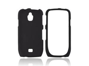 Black Rubberized Hard Plastic Case Cover For Samsung Exhibit T759