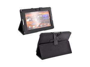 Black Premium Leather Stand Case w Magnetic Closure For Blackberry Playbook
