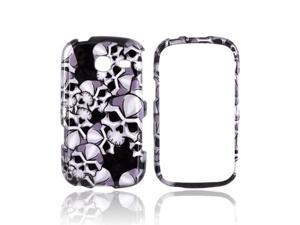 Silver Skulls On Black Plastic Snap On For Samsung Freeform 3