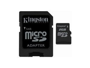 Kingston 2gb Micro Sdhc Memory Card W Sd Adapter