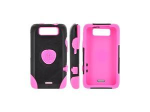 OEM Trident Aegis LG Viper 4g LTE/ LG Connect 4g Hard on Silicone Case W/ Screen Protector - Pink/ Black