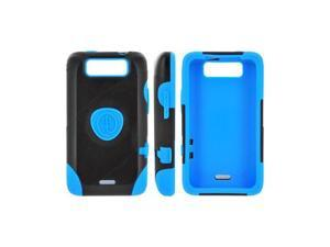 OEM Trident Aegis LG Viper 4g LTE/ LG Connect 4g Hard on Silicone Case W/ Screen Protector - Blue/ Black