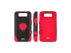 OEM Trident Aegis LG Viper 4g LTE/ LG Connect 4g Hard on Silicone Case W/ Screen Protector - Red/ Black