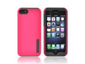 OEM Incipio Dualpro Apple IPHone 5 Hard Cover Over Silicone W/ Screen Protector Film Guard, IPH-816 - Hot Pink/ Gray