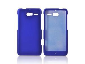 Motorola Droid RAZR M Rubberized Plastic Cover - Blue