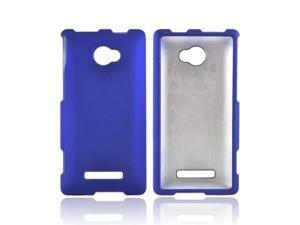 Blue HTC 8x Rubberized Plastic Snap On Cover