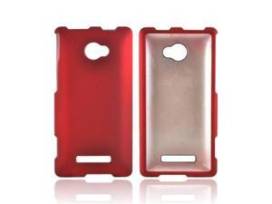 Red HTC 8x Rubberized Plastic Snap On Cover
