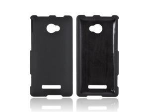 Black HTC 8x Rubberized Plastic Snap On Cover