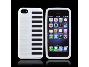 White Piano Apple Iphone 5 Rubbery Soft Silicone Skin Case