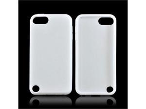 White Apple Ipod Touch 5 Rubbery Soft Silicone Skin Case