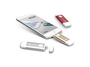Adam Elements 64GB iKlips Apple Lightning / USB 3.0 Dual-Interface Flash Drive – Gold ADRAD64GKLPGD