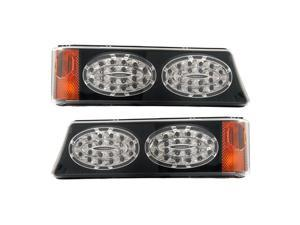 APC Black Housing Smoked Diamond Cut Parking Lamps, Chevrolet Silverado                               403462PBS