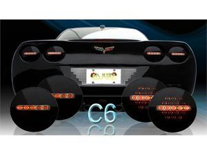 Adjure MIDNIGHT ONYX CORVETTE LED TAIL LIGHTS 2005-2009 C6    CV104-B4