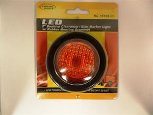 "AutoSmart LED 2"" ROUND CLEARANCE / SIDE MARKER LIGHT KIT W LIGHT AND GROMMET (RED) KL-15103RK"