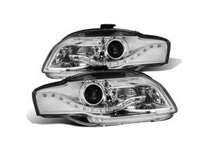 CG AUDI A4 05-09 PROJECTOR HEADLIGHT CHROME CLEAR(R8 LED STYLE) 02-AZ-AA407-PCC PAIR