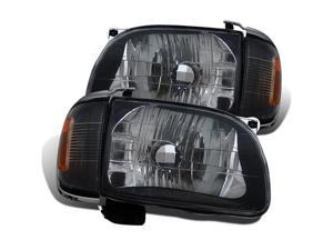CG TOYATA TACOMA 01-04 HEADLIGHT BLACK WITH C.L AMBER 02-AZ-TT01-SET-B-A PAIR