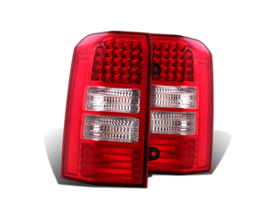 CG JEEP PATRIOT 07-08 L.E.D TAILLIGHT RED/CLEAR 03-JP07TLED PAIR