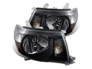 CG TOYOTA TACOMA 05-09 HEADLIGHT BLACK AMBER 02-AZ-TT05-B-A PAIR