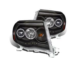 CG TOYOTA TACOMA 05-09 PROJECTOR HEADLIGHT W/O CCFL BAR BLACK CLEAR AMBER(CCFL) 02-AZ-TT05-PBC-RFN-A PAIR