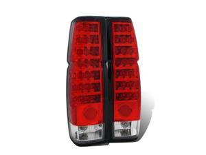 CG NISSAN HARDBODY 86-97 L.E.D TAILLIGHT RED/CLEAR 03-NH8697TLALED PAIR