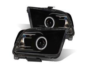CG FORD MUSTANG 05-09 PROJECTOR HEADLIGHT G2 HALO BLACK CLEAR(CCFL)(2010 STYLE) 02-AZ-FM05-PBC-RF-G2 PAIR