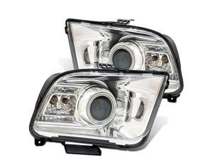 CG FORD MUSTANG 05-09 PROJECTOR HEADLIGHT G2 HALO CHROME CLEAR(CCFL)(2010 STYLE) 02-AZ-FM05-PCC-RF-G2 PAIR