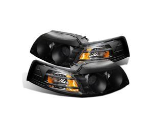 CG FORD MUSTANG 99-04 PROJECTOR HEADLIGHT BLACK CLEAR AMBER 02-AZ-FM99-PBC-A PAIR