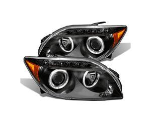 CG SCION TC 05-10 PROJECTOR HEADLIGHT HALO BLACK CLEAR AMBER (CCFL) 02-AZ-SC04-PBC-R-A PAIR