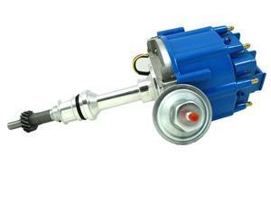TSP HEI DISTRIBUTOR - FORD 289 302W V8 ENGINES, 50K V COIL, BLUE CAP JM6502BL