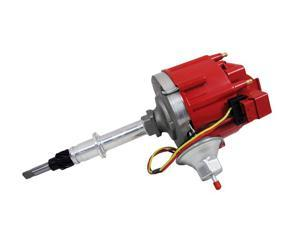 TSP HEI DISTRIBUTOR - AMC JEEP 232-258 I6 ENGINES, 50K V COIL,RED CAP JM6511R