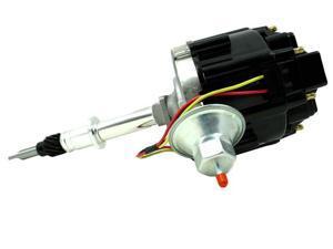 TSP HEI DISTRIBUTOR - AMC JEEP 232-258 I6 50K V COIL, BLACK CAP JM6511BK