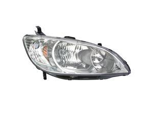 Eagle Eyes 04-05 HONDA CIVIC 2D/4D HYBRID HEADLIGHT P/L#: HO2503121 OE#: 33101-S5A-A51 Passenger Side HD430-A001R