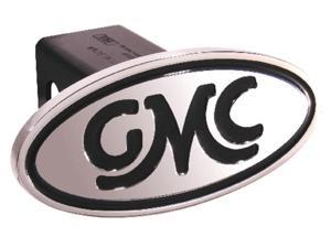 "Defenderworx GMC Inscribed GMC Classic Black Oval 2"" Billet Hitch Cover 40003"