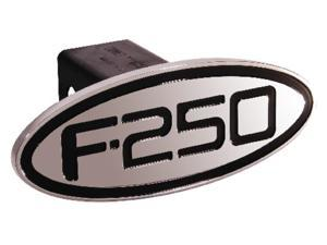Defenderworx Ford - F-250 - Black - Oval - 2'' Billet Hitch Cover Black Ea 60253