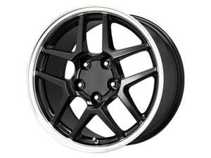 B/G Rod Works Corvette Replica Z06 Wheel 17x9.5 Gloss Black Machined Lip Z06 795-5475-54 BM