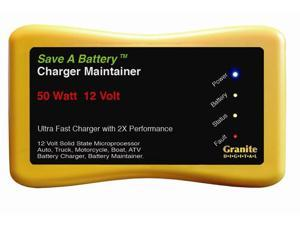 Save A Battery 2365 12 Volt 50 Watt Battery Charger Maintainer Desulfator